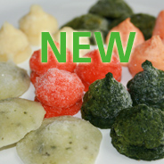 vegetable purees frozen into IQF pellets